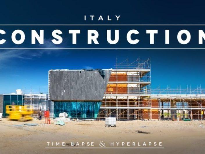 Time lapse Construction & Hyperlapse. Costruzione Corman. Milano, Italy 4k